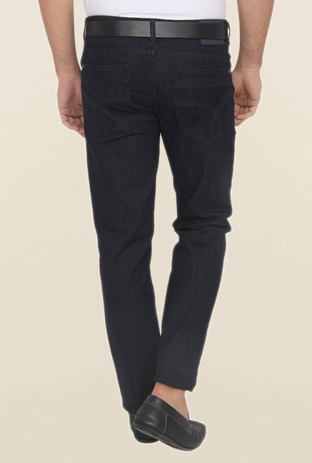 Calvin Klein Black Solid Regular Fit Jeans