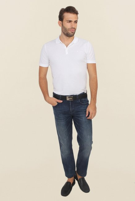 Calvin Klein Blue Low Rise Regular Fit Jeans