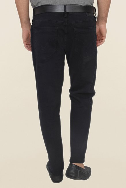 Calvin Klein Black Solid Cotton Jeans