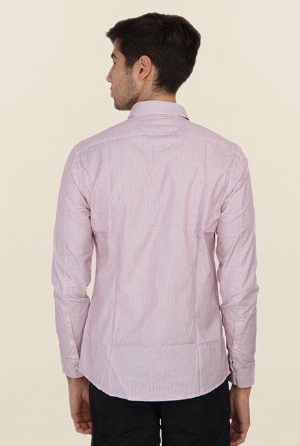Calvin Klein Pink Pin Striped Casual Shirt