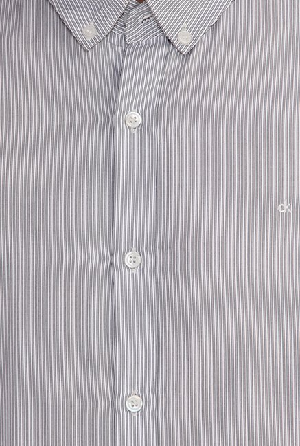 Calvin Klein Grey Pin Striped Casual Shirt