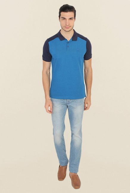 Calvin Klein Blue Polo T Shirt