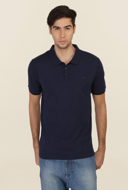 Calvin Klein Navy Polo T Shirt