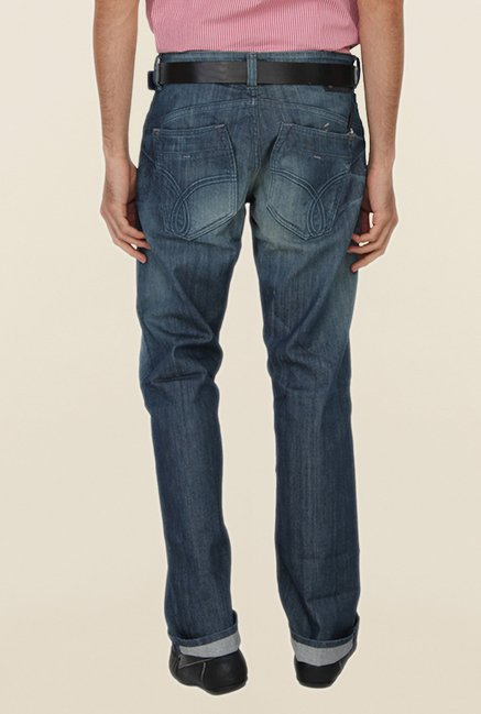 Calvin Klein Blue Solid Jeans