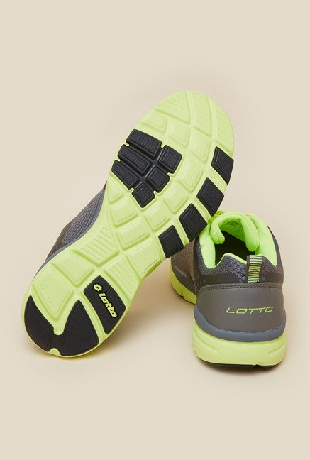 Lotto College IV Grey & Lime Running Shoes