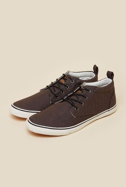 Lotto Dalton Mid Brown Sneakers