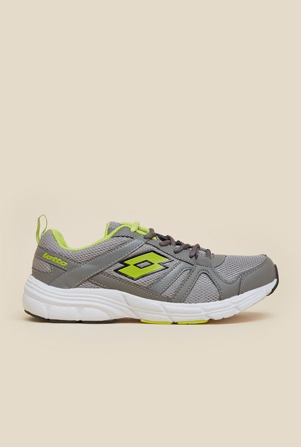 Lotto Antares VI Grey & Lime Green Running Shoes