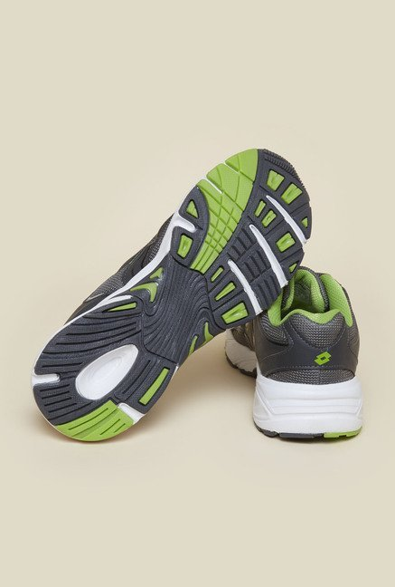 Lotto Venice Nuo Grey & Green Running Shoes