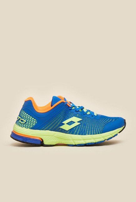 Lotto Solista Run Royal Blue & Green Running Shoes