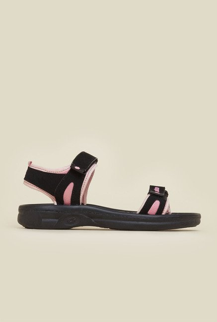 Lotto Florence Black & Pink Sandals