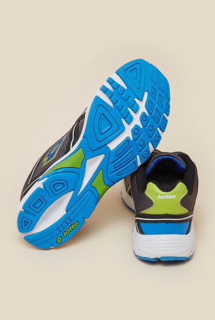 Lotto Zest Grey & Black Running Shoes