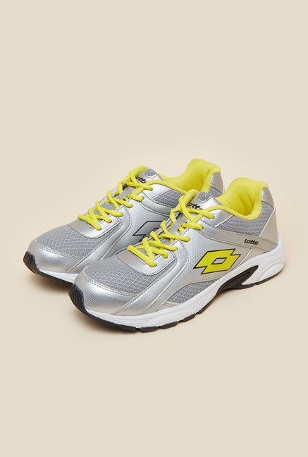 Lotto Portlane Silver & Yellow Running Shoes