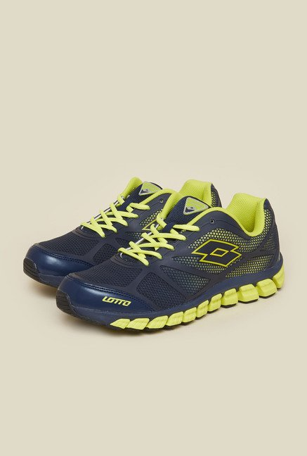 Lotto X-Ride Navy & Lime Training Shoes