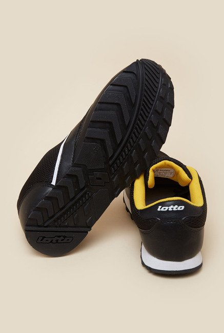 Lotto Jogger Black & Yellow Running Shoes