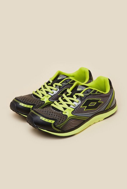 Lotto Speedride II Grey & Green Running Shoes