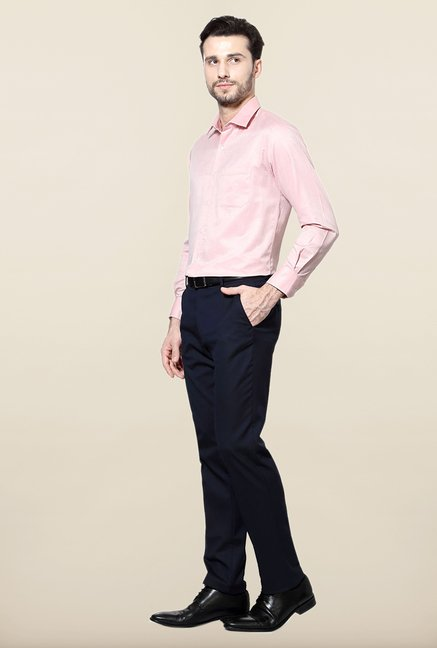 Peter England Pink Slim Fit Formal Shirt