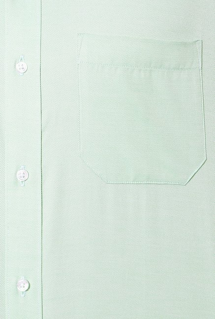 Peter England Light Green Formal Shirt
