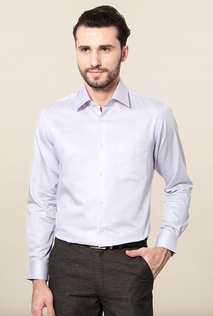 Peter England Lilac Slim Fit Formal Shirt