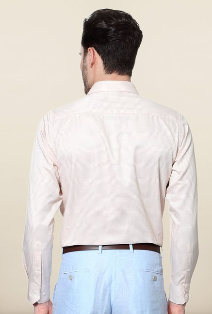 Peter England Beige Slim Fit Formal Shirt
