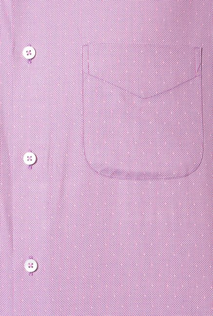 Peter England Purple Cotton Formal Shirt