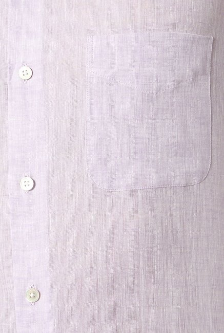 Peter England Lilac Solid Slim Fit Formal Shirt