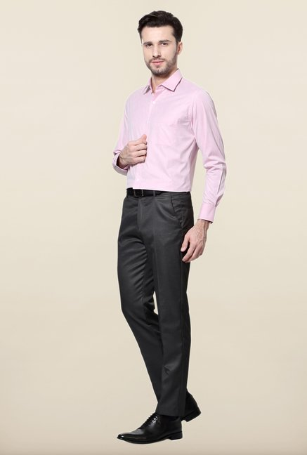 Peter England Pink Solid Formal Shirt