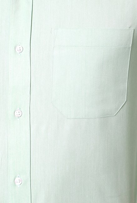Peter England Turquoise Cotton Formal Shirt