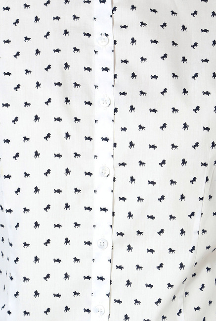Allen Solly White Cotton Formal Shirt