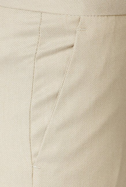 Allen Solly Beige Mid Rise Trousers