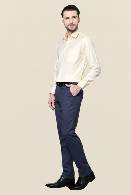 Peter England Cream Formal Shirt