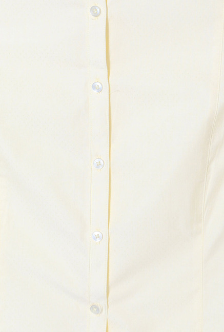 Allen Solly Yellow Solid Formal Shirt
