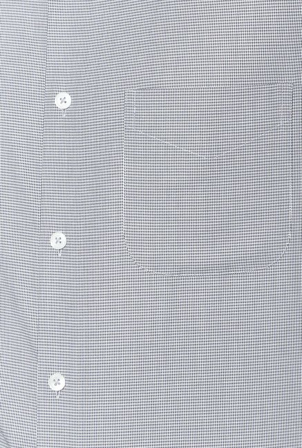 Peter England Grey Cotton Shirt