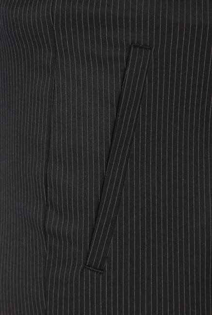 Allen Solly Black Striped Trouser