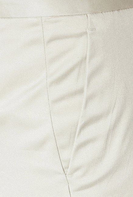 Allen Solly Beige Solid Trousers