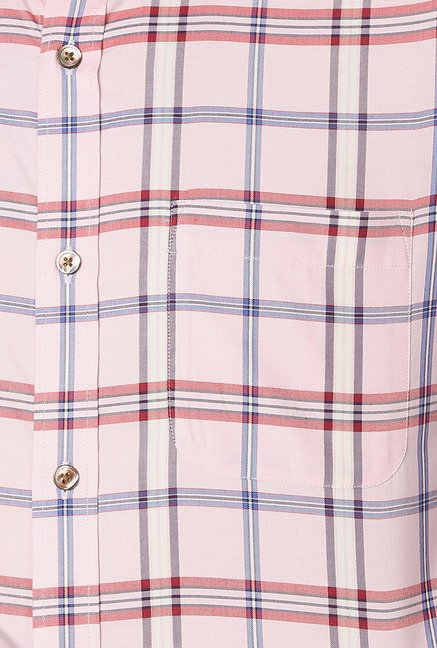 Peter England Pink Cotton Formal Shirt