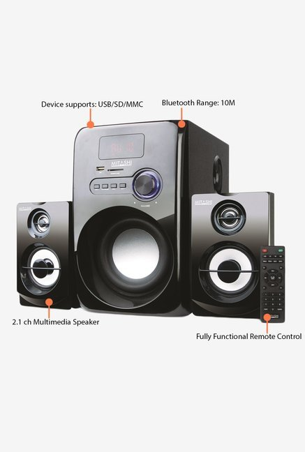 Mitashi HT-5275BT 2.1Ch Bluetooth Home Theatre System(Black)