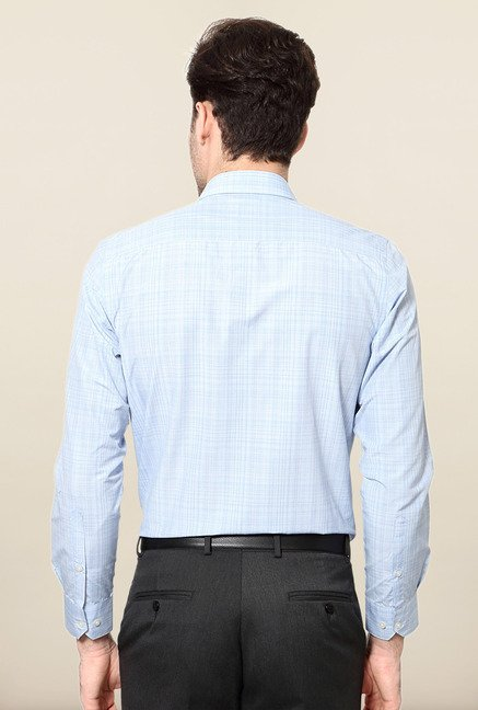 Peter England Blue Slim Fit Shirt