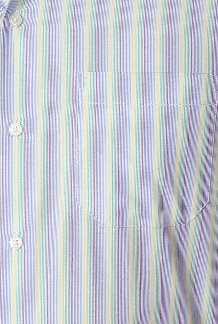 Peter England Multicolor Striped Formal Shirt