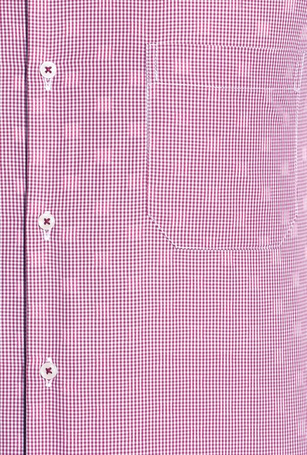 Peter England Red & Pink Formal Shirt