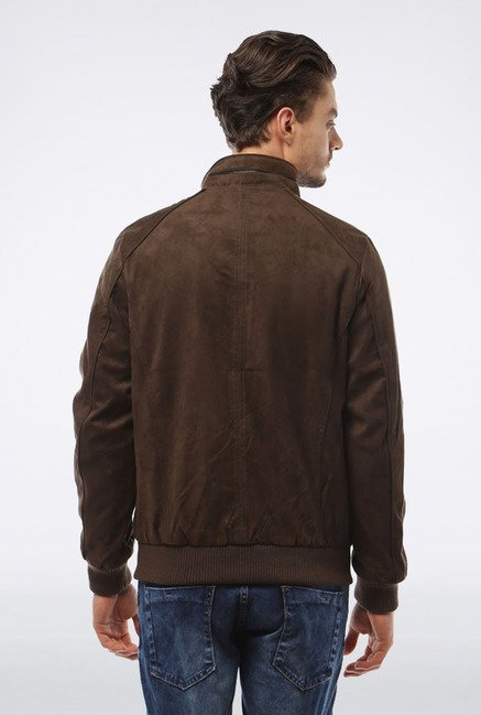Allen Solly Brown Solid Casual Jacket