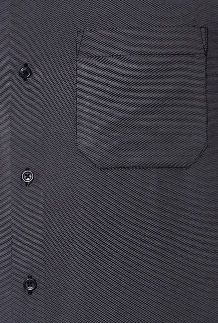 Peter England Grey Slim Fit Formal Shirt