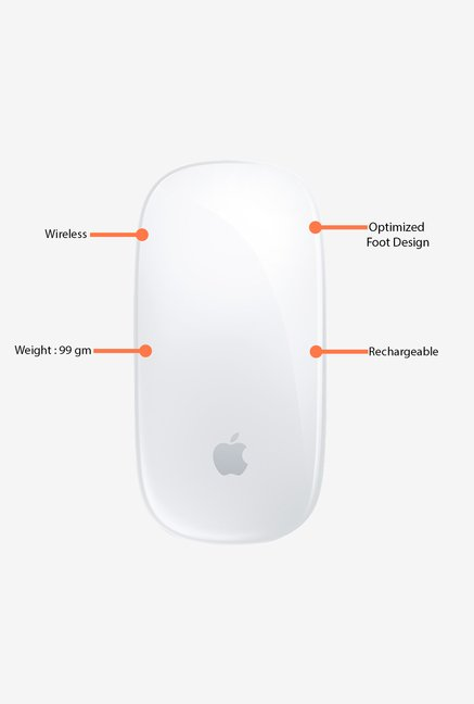 Apple Magic MLA02ZM/A Mouse White