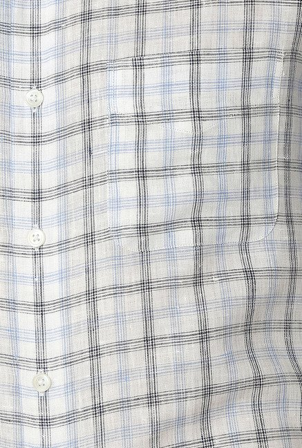 Peter England White Cotton Formal Shirt