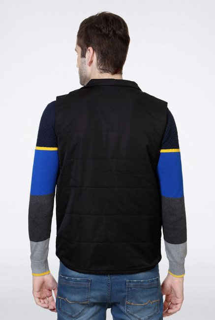 Allen Solly Black Solid Casual Jacket