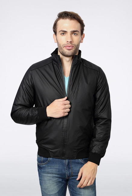 Peter England Black Casual Jacket