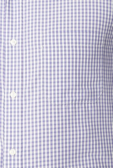 Peter England Purple & Blue Slim Fit Formal Shirt