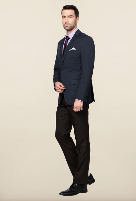 Peter England Navy Slim Fit Formal Suit