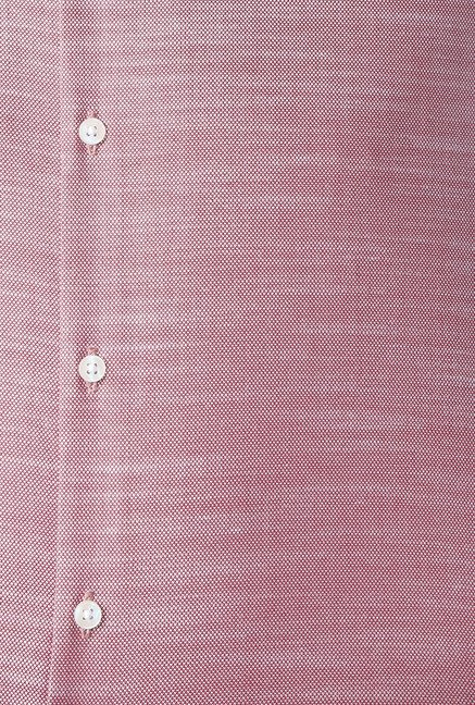 Peter England Mauve Cotton Shirt