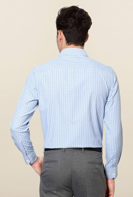 Peter England Blue Slim Fit Formal Shirt