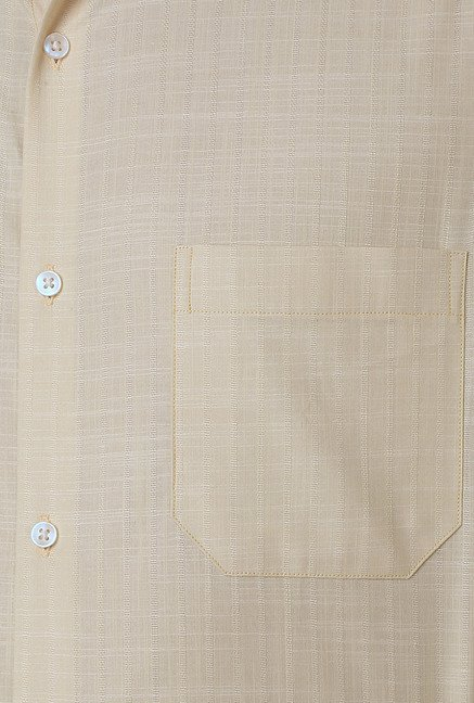 Peter England Beige Formal Shirt